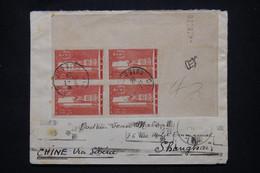 FRANCE - Enveloppe De Dijon Pour Shanghai En 1938, Affr. Service De Santé Militaire Bloc De 4 Coin Daté - L 102186 - 1921-1960: Modern Tijdperk