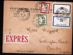 Loiret, 1952, Orleans Centre D'instruction, F82, F86, F88, F90 Sur Enveloppe Pour Beccles, Angleterre - Phantom