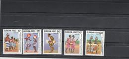 Burkina Faso 1986 Yvert  Série 717 à 721 ** Neuf Sans Charnière - Danse Culture - Burkina Faso (1984-...)