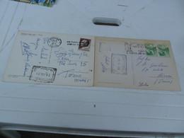 2 Cartoline  JUGOSLAVIA CON ANNULLO A TARGHETTA - Jugoslavia
