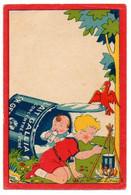 Publicité Pour Le Lait GALLIA Et Le Biberon TRILAC, Beaux Enfants Bien Portants, Illustrateur PINEL. - Other