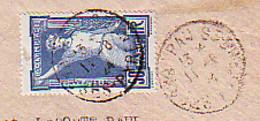 FRANCE N° 186 SEUL SUR DEVANT DE LETTRE OBLITERATION  DU 11 - 8 - 24 - 8° OLYMAPIADE - 1921-1960: Modern Tijdperk