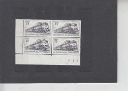 ITALIA  1971  - Sassone  1140** (quartina) - Giornata Francobollo - Treno - Trains