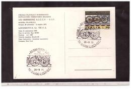 TEM14010  -   BOLOGNA  28.9.1975    /  XXI SESSIONE  A-I-C-C-F--U.I.C. - MOSTRA Filatelica - Trains