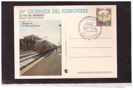 """TEM14033  -  SAN GIOVANNI IN PERSICETO  27.91987    /  """" LA VIA DEL BRENNERO """" - 29° GIORNATA DEL FERROVIERE - Trains"""