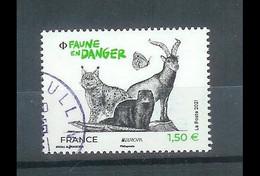 Superbe Timbre Gommé Nouveauté Europa Faune En Danger 2021 Oblitérée TTB PCD Rond - Used Stamps