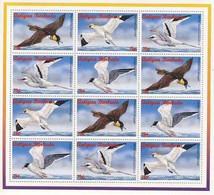 MDB-BK6-091-091-2 MINT ¤ ANT. & BARBUDA 1990 2xSHEET KOMPLETE SETS ¤ OISEAUX - BIRDS - VÖGEL - BIRDS OF THE WORLD - - Marine Web-footed Birds