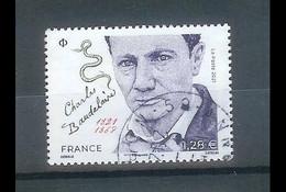 Superbe Timbre Gommé Nouveauté Charles Baudelaire 2021 Oblitérée TTB PCD Rond - Used Stamps