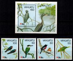 MDB-BK10-334-2 MINT ¤ VANUATU 1991 KOMPL.SET ¤ BIRDS OF THE WORLD - OISEAUX - BIRDS - PAJAROS - VOGELS - VÖGEL - - Sperlingsvögel & Singvögel