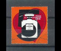 Superbe Timbre Gommé Nouveauté Coeur Chanel 1.08 2021 Oblitérée TTB PCD Rond - Used Stamps