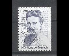 Superbe Timbre Gommé Nouveauté Simone De Beauvoir 2021 Oblitérée TTB PCD Rond - Used Stamps