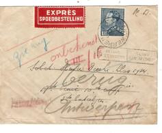 241REF/ TP 430 Poortman S/L.M.D. Exprès En Franchie Partielle C. Antwerpen 1940 > Militaire Divers C.PMB-BLP - Military Post