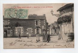 - CPA LA TOUR SAINT-GELIN (37) - Hôtel Viau Et Route De Richelieu (belle Animation) - - Andere Gemeenten