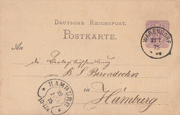 DR Ganzsache K1 Warendorf 21.7.75 Gel. Nach Hamburg Ankunftsst. Hufeisenstempel Hamburg 22.Juli 75 - Cartas