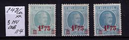 HOUYOUX ** N* 248 CU 3 NUANCES Cob 120 à 11,90 - Unused Stamps