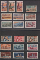 Cote Des Somalis 1947 Série Courante 264-282 19 Val ** MNH - Nuevos