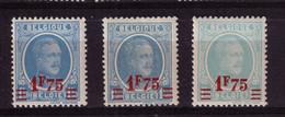 HOUYOUX ** N* 248  + A + C  Cob 20 à 1,95 - Unused Stamps