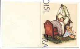 Bébé Dans Son Berceau, Petite Fille Joue De La Flûte. Signée Bonnie - Naissance & Baptême