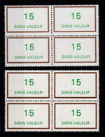 Fictifs - Variete - YV F218 N** Luxe Brun Clair & Vert Clair + Normal , En Blocs De 4 - Phantom