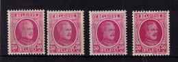 HOUYOUX ** N* 200  4 Nuances   à 1,90 - Unused Stamps