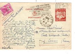 246REF/ Entier CP 1,75 Exportation C. BXL 1948 > Poste Restante Cannes Taxée 5 Frs - Lettere