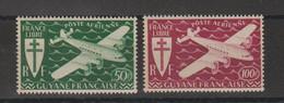 Guyane 1945 Série Londres PA 26-27 2 Val ** MNH - Nuevos