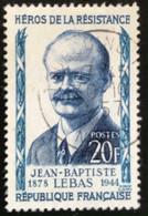 France - République Française - W1/10 - (°)used - 1957 - Michel 1133 - Verzetshelsen - Lebas - Usati