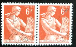 France - République Française - W1/10 - (°)used - 1957 - Michel 1148 - Maaister - Usati