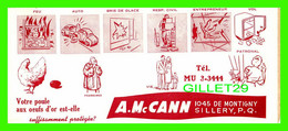 BUVARD - A. M. CANN, SILLERY, QUÉBEC - VOTRE POULE AUX OEUFS D'OR EST-ELLE SUFFISAMMENT PROTÉGÉE ? - DIMENSION 9.5 X 22 - A