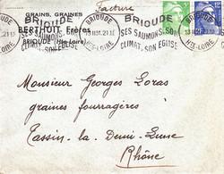ENVELOPPE TIMBRéE / 13.02.1951 / MARIANNE DE GANDON / 5F VERT-CLAIR ( N° 809 ) + 12F OUTREMER ( N° 812 ) - 1921-1960: Modern Tijdperk