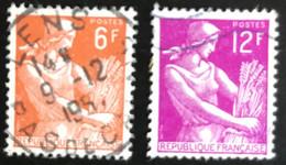 France - République Française - W1/10 - (°)used - 1957 - Michel 1148-1149 - Maaister - Boerin - Lens - Usati