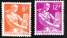 France - République Française - W1/10 - (°)used - 1957 - Michel 1148-1149 - Maaister - Boerin - Usati