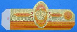 1 BAGUE DE CIGARE CUBAKRONE REIN HAVANA EXTRA MILD SANDBLATT 1755 - Anelli Da Sigari