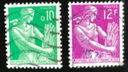 France - République Française - W1/10 - (°)used - 1957/60 - Michel 1275-1149 - Maaister - Usati