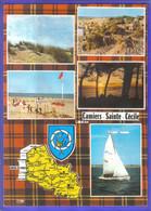 Carte Postale Géographique 62.  Camiers   Ste-Cécile  Très Beau Plan - Altri Comuni