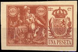 ESPAGNE / SPAIN / ESPAÑA Fiscales ANO 1900 Pólizas Sello 11° 1 Pta Castaño Rojo - Usado - Fiscale Zegels