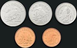 Saint Thomas & Prince Set 5 Coins 2017 10 20 50 Centimos + 1 2 Dobras Sao Tome Principe UNC - Sao Tome And Principe