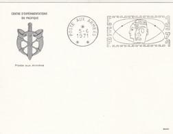 CARTE. CENTRE D'EXPERIMENTATIONS DU PACIFIQUE. POSTE AUX ARMEES. 5 6 1971 - Briefe U. Dokumente