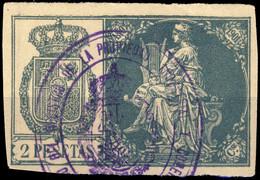 ESPAGNE / SPAIN / ESPAÑA Fiscales ANO 1901 Pólizas Sello 10° 2 Ptas Verde - Usado - Fiscale Zegels