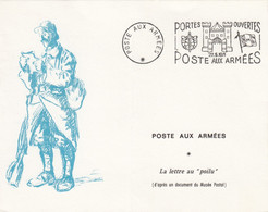 DOUBLE CARTE. PORTES OUVERTES POSTE AUX ARMEES. 22 5 71. LA LETTRE AU POILU - Briefe U. Dokumente