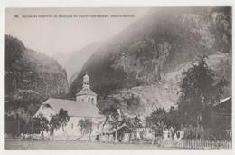 EGLISE DE SERVOZ ET ROCHERS DE SAINT-GEORGES, ,POSTCARD - Other Municipalities