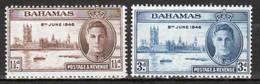Bahamas 1946 George VI Set Of Stamps To Celebrate Victory In Mounted Mint Condition. - 1859-1963 Kolonie Van De Kroon
