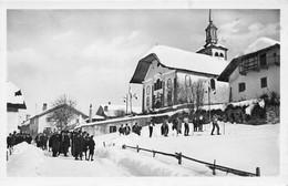 LES CONTAMINES-MONTJOIE - Le Village - Départ D'une Course à Skis (CPSM Petit Format) - Other Municipalities