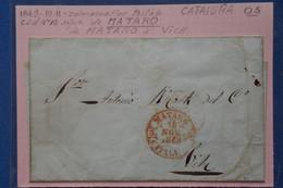 X11 ESPAGNE BELLE LETTRE 1849 CATALUNA MATARO  POUR VICH + + AFFRANCH.INTERESSANT - ...-1850 Vorphilatelie