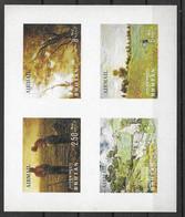 Bhutan Mnh ** Airmail Sheet 1968 10 Euros Carton Impressionistes Painters - Bhutan