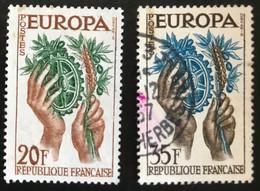 France - République Française - W1/11 - (°)used - 1957 - Michel 1157-1158 - Europa - Usati
