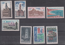 France Monuments Et Sites(1966-67) Y/T Série 1499/1506 Neufs ** - Neufs