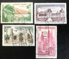 France - République Française - W1/12 - (°)used - 1957 - Michel 1160-1163-1164-1165 - Landschappen - Usati