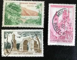 France - République Française - W1/12 - (°)used - 1957 - Michel 1160-1164-1165 - Landschappen - Usati