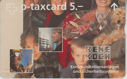 SWITZERLAND - PHONE CARD - TAXCARD PRIVÉE - FF ***  RENE KOCH  *** - Suisse